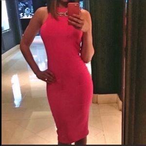Nordstrom Pink Leith Midi Dress